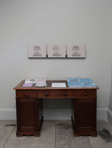 Emma Talbot 'Sex Fantasy' lithograph, folded in slipcase (24.5×31.5×1.5cm), installation photo by Andy Keate