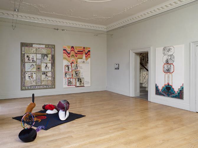Emma Talbot 'Step Inside Love' installation view, photograph by Andy Keate