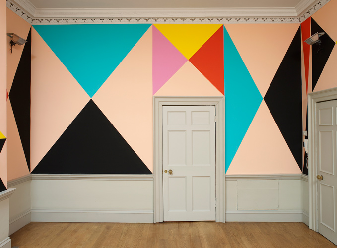 Lothar Götz 'What makes boys dance?' emulsion on wall, 2012, photo by Andy Keate, domobaal, London