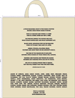 Time is a Sausage (A Show of Shows) bespoke cotton tote bag